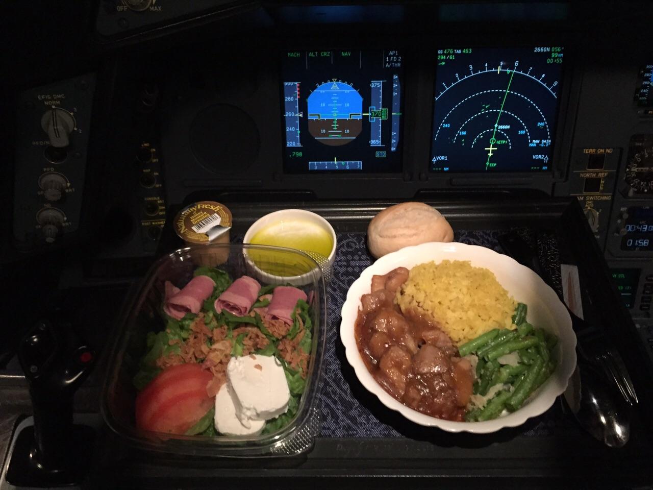 Airplane food-pilot-eat