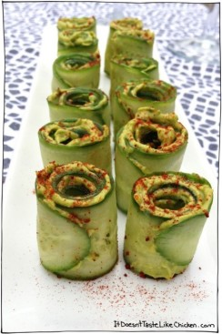 St. Patrick's day Recipes - CUCUMBER AVOCADO ROLLS