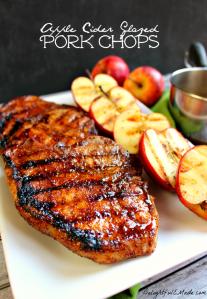 Apple Cider Glazed Pork Chops recipe
