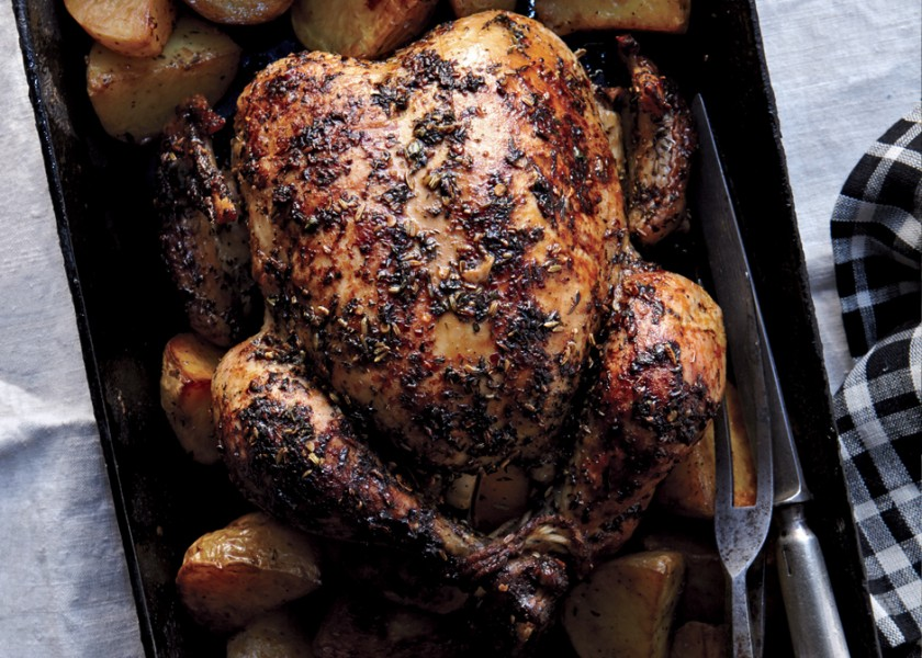 herbed-faux-tisserie-chicken-and-potatoes-840x600